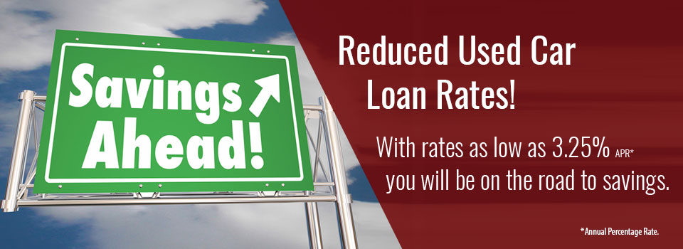 Reduced used car loan rates